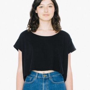 Silky cropped top